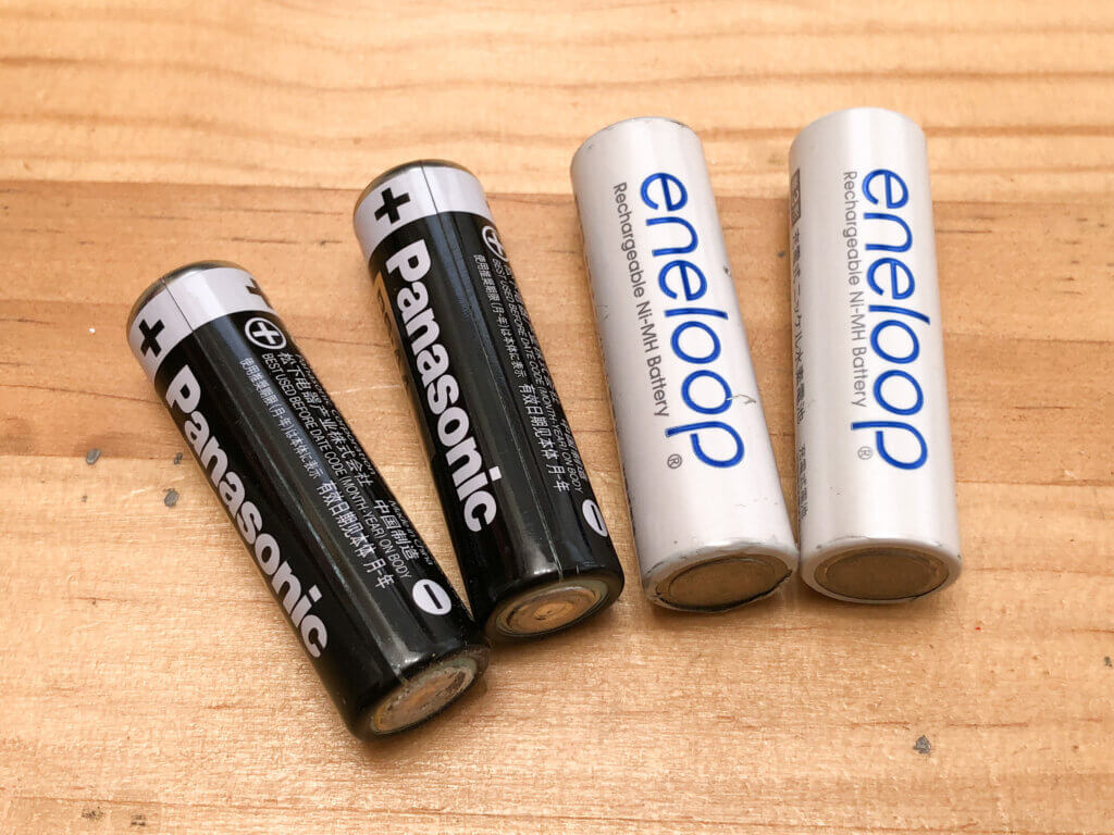 電池と充電電池