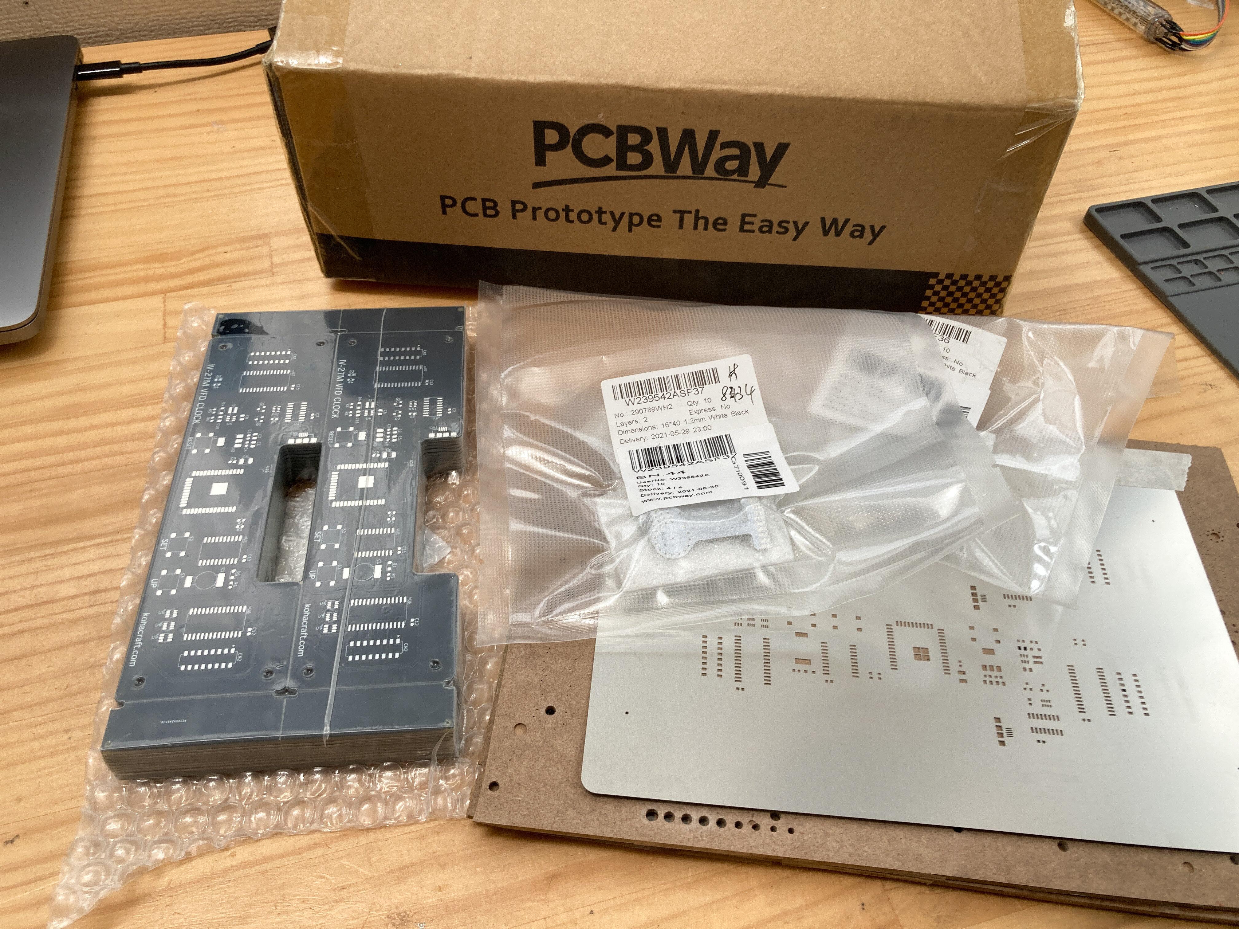 PCBWayから届いた基板