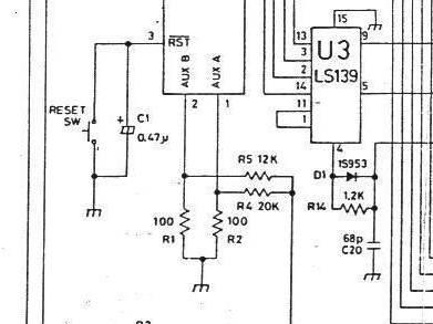 ファミコンの2A03音源出力部の回路図