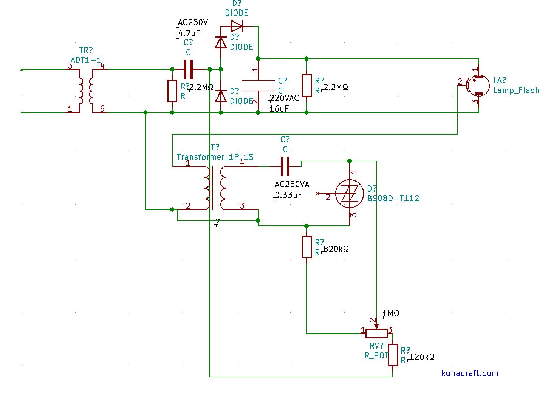 フラッシュライトの回路図