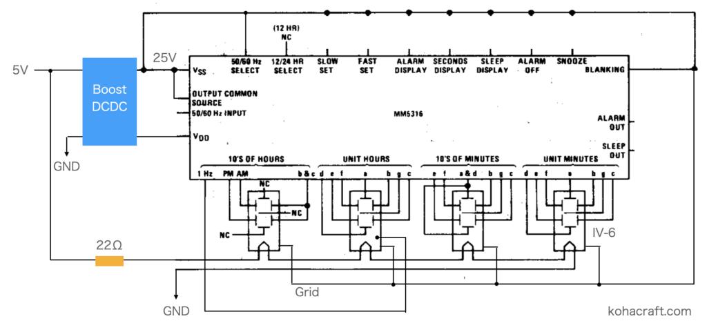 MM5316N回路図