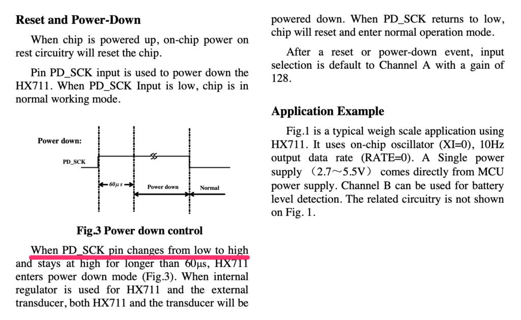HX711パワーダウンモード